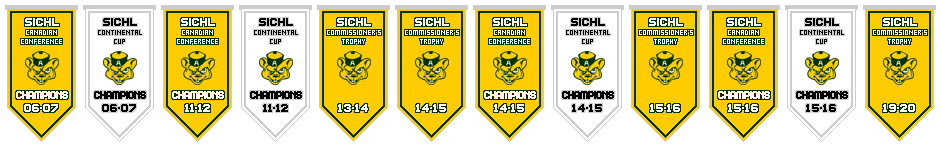 Acadia Golden Bears Franchise Championship Banners
